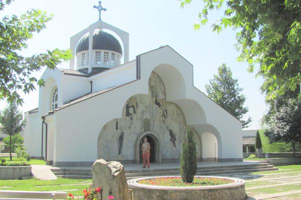 Храм Святой Петки построенный Вангой в селе Рупите.  Болгария.