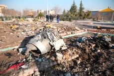 Место крушения украинского самолета в Иране