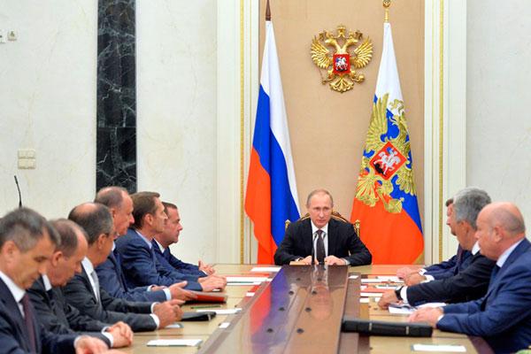 Совещание с постоянными членами Совета Безопасности.