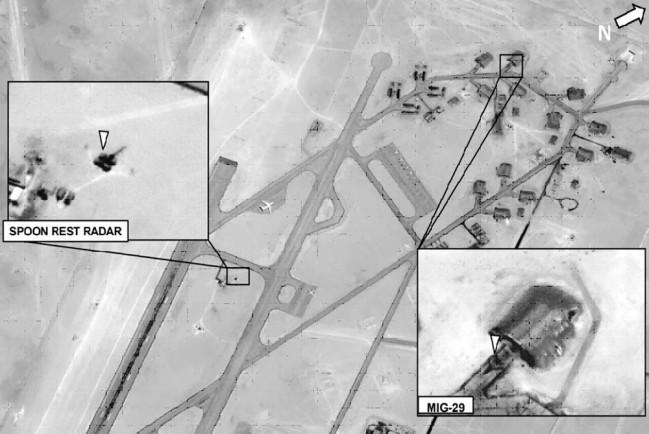 Как утверждает AFRICOM, на данной фотографии изображен МиГ-29 в момент выезда из ангара