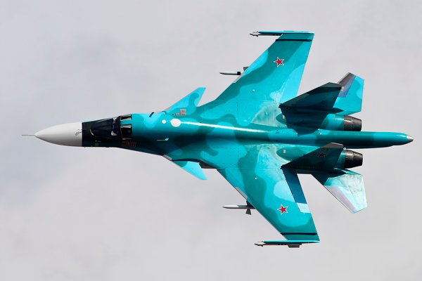 Су-34 (Su-34) во время полёта
