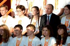 """Путин в образовательном центре для одарённых детей """"Сириус"""" в Сочи."""