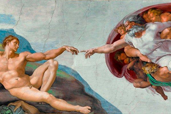 Микеланжело «Сотворение Адама»