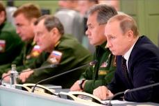 Совещание о действиях Вооружённых Сил России в Сирии.