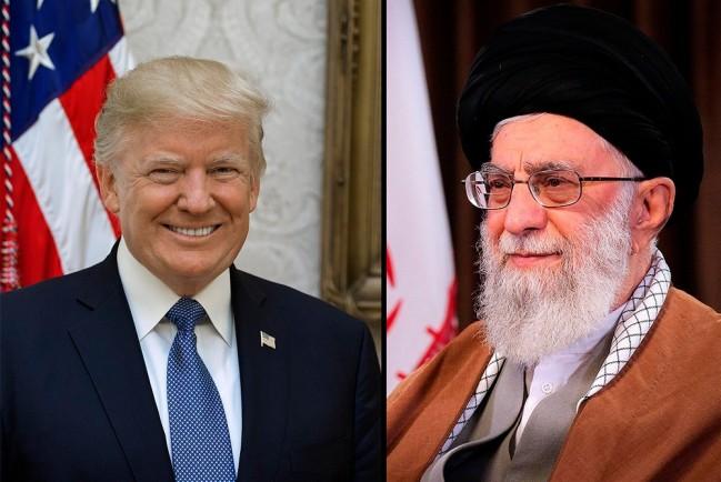 Дональд Трамп и Сейед Али Хосейни Хаменеи