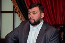 Глава ДНР Денис Пушилин на встрече с журналистами в Москве