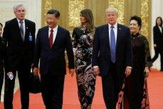 Дональд и Мелания Трамп с президентом Китая Си Цзиньпином и первой леди Пэн Лиюань в Доме народного собрания в Пекине 9 ноября 2017