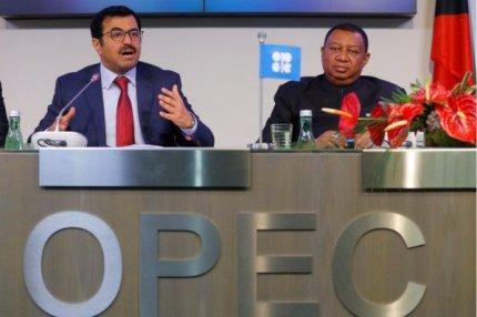 Президент ОПЕК министр энергетики Катара и Секретарь ОПЕК Мохаммад Баркиндо.