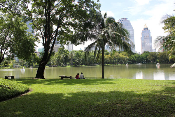 Парк Люмпини (Lumpini Park) в Бангкоке, Таиланд.