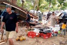 Разрушения после цунами 22 декабря 2018 года в Индонезии