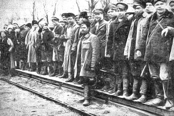 Отряд махновцев на станции Пологи