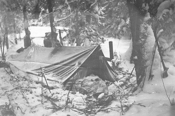 Палатка в которой ночевала группа Дятлова
