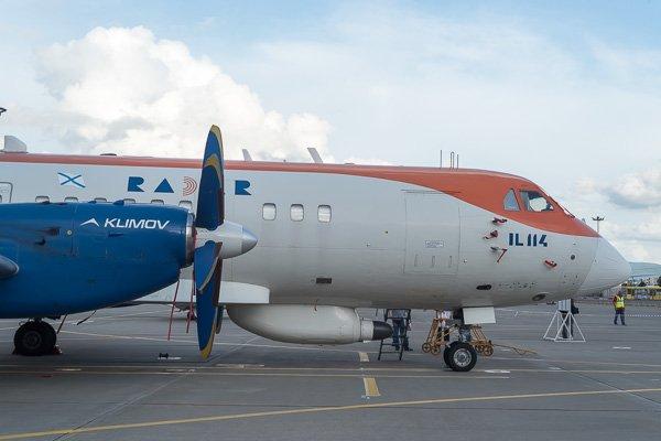 Пассажирский самолет Ил-114 Радар. Вид сбоку