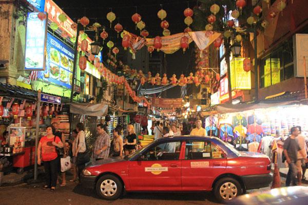 Район Чайнатаун в Куала-Лумпуре. Малайзия.