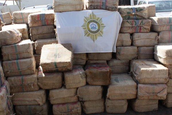 Изъятый кокаин с корабля ESER общим весом 9,5 тонн