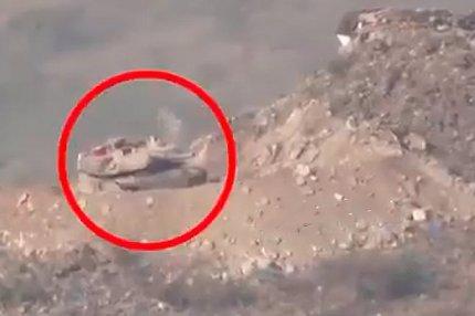 Танк «Абрамс» атакованный хуситами