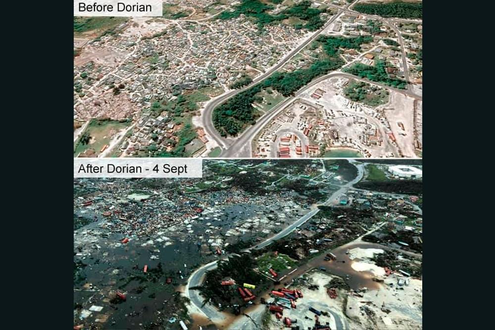До и после урагана Дориан