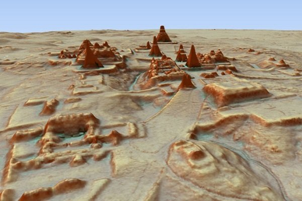 город Тикаль в 3D