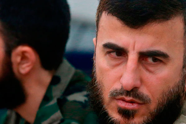 Лидер сирийских повстанцев Захран Аллуш.