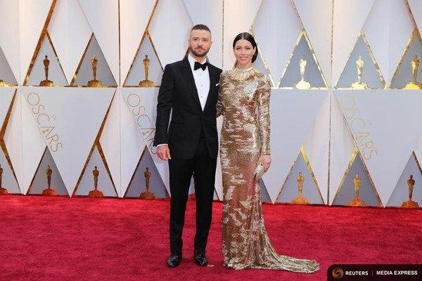 Джастин Тимберлейк и Джесика Бил, Оскар-2017.