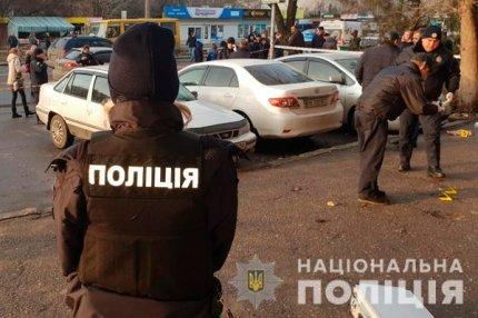 Полиция Украины на месте преступления