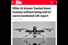 Турецкий боевой дрон впервые атаковал человека по собственной инициативе