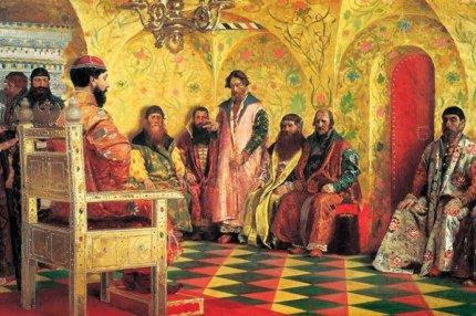 Михаил Фёдорович на собрании боярской думы (Андрей Рябушкин, 1893)