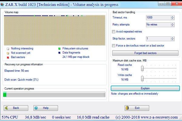 Zero Assumption Recovery – программа для восстановления поврежденных данных на жестких дисках