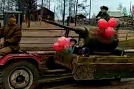 Парад Победы в отдельном якутском селе