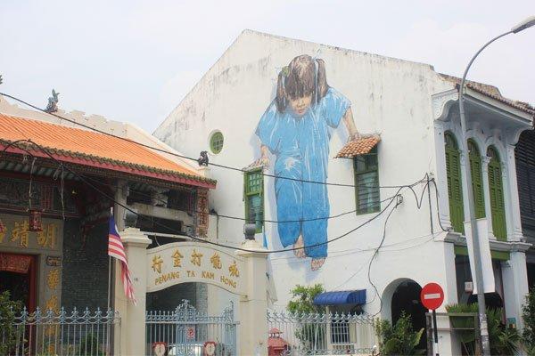 Красивые картины на стенах домов в Джорджтауне. Остров Пинанг (Пенанг), Малайзия.