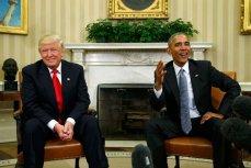 Трам и Обама, встреча в Белом Доме, Вашингтон.