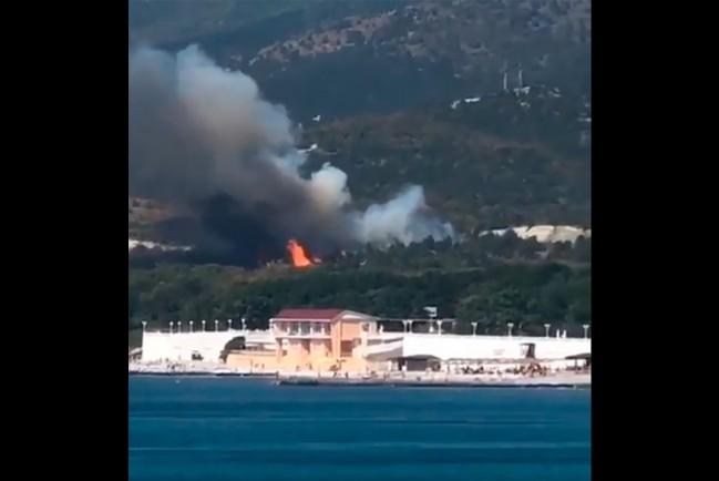 Пожар в Кабардинке