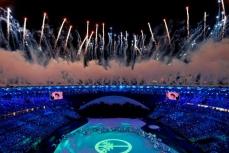 "Открытие олимпийских игр на стадионе ""Маракана""."