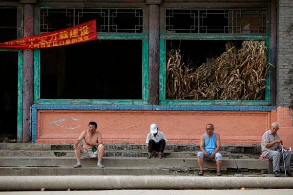 Уходящая под землю деревня в Китае.