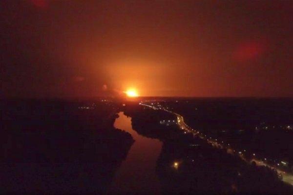 Пожар на военном складе.