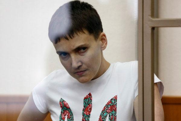 Бывшая украинская военнослужащая Надежда Савченко.