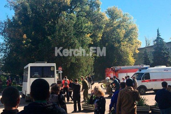 Взрыв в политехническом колледже в Керчи