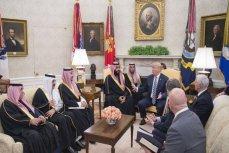 Дональд Трамп и Аравии Мухаммед бин Салман на встрече в Овальном кабинете.