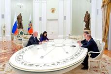Встреча Путина с Джанни Инфантино и Виталием Мутко