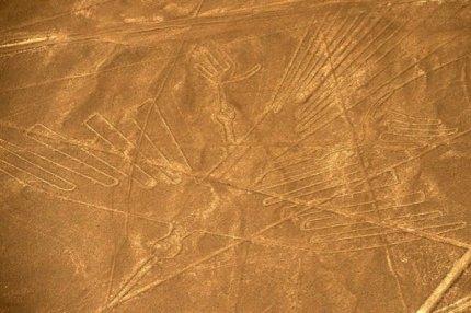 Вид с воздуха на геоглиф Наска, примерно в 435 км к югу от Лимы, Перу 11 декабря 2014 года