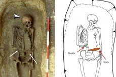 Скелет средневекового человека