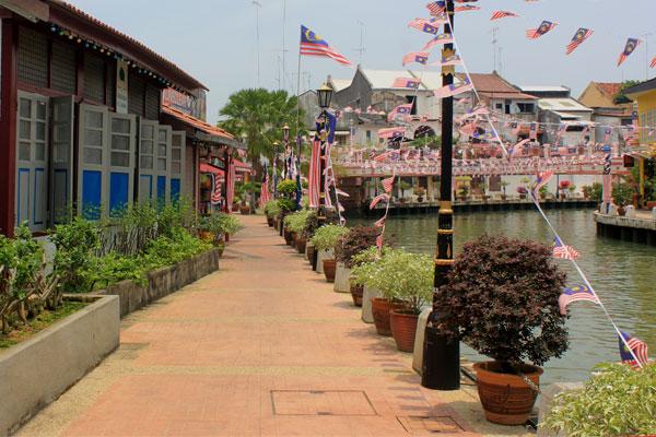 Набережная Малакка в Малайзии.