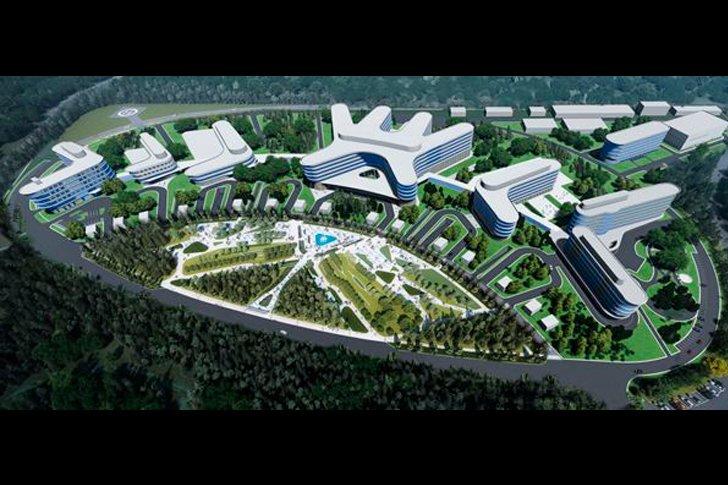 Проект многофункционального медицинского комплекса в Ленинградской области, вид сверху