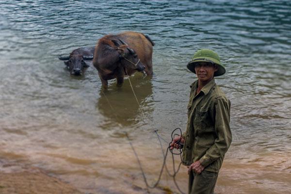 Деревня Фоннья. Типичная жизнь вьетнамских крестьян.