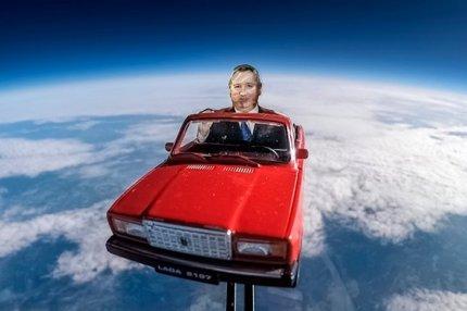 Рогозин в красных «Жигулях» в космосе