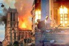 Пожар в соборе Нотр-Дам-де-Пари и в Доме профсоюзов в Одессе