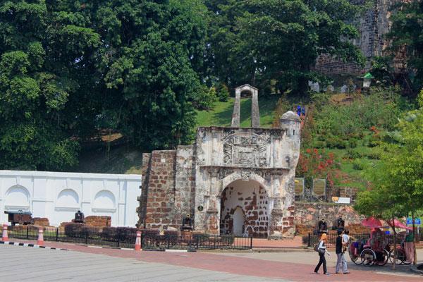Крепость Фамоза в Малакке. Малайзия.