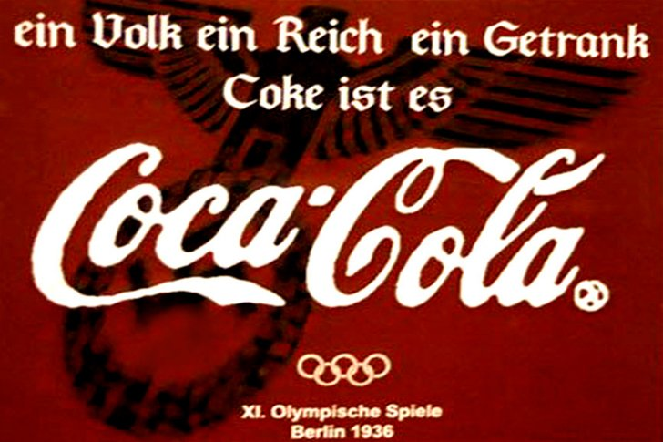 Coca-Cola - генеральный спонсор Олимпийских игр 1936 года в Германии