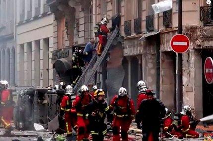 В центре Парижа в булочной взорвался газ