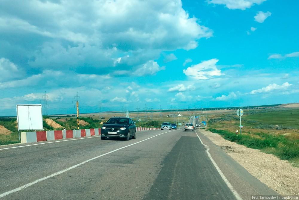 Начало четырехполосной дороги на Крымский мост